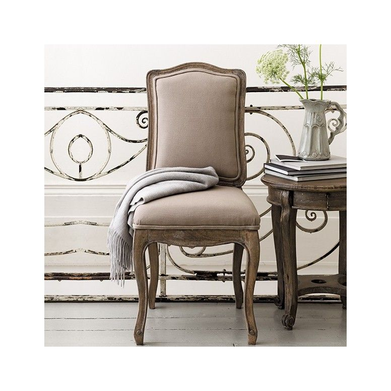 Pair Of Avignon French Dining Chairs  Putty  Dining Chairs Awesome Shabby Dining Room Design Inspiration