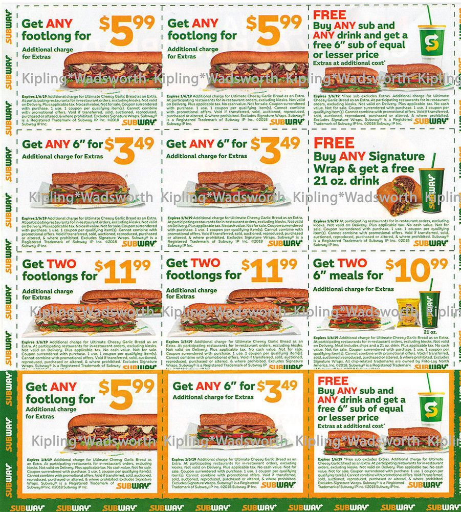Subway Coupons Subway Deals And Daily Specials 2018 Induced Info