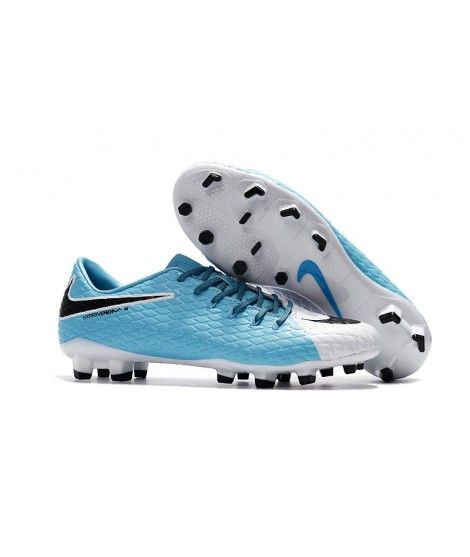buy popular f3a8f 38524 Nike Hypervenom Phelon III FG PEVNÝ POVRCH Modrý Bílá Černá Kopačky