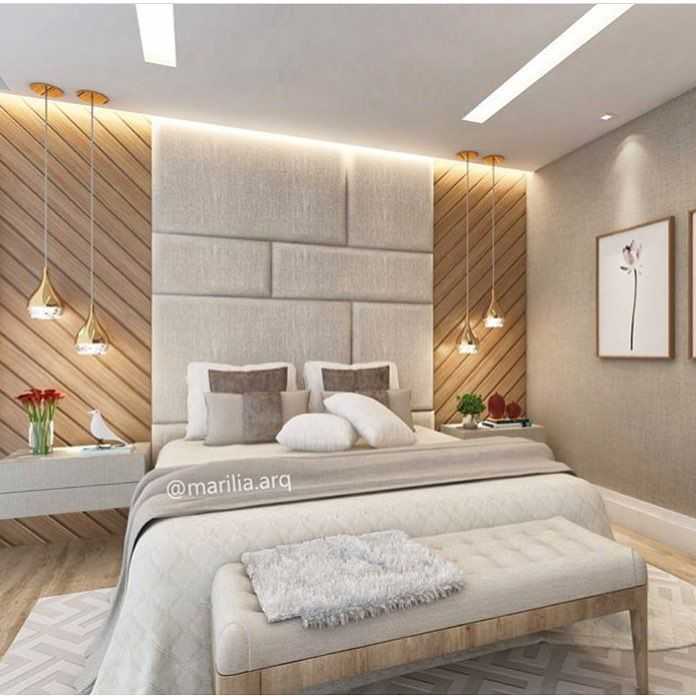 Make Your Bedroom A Romantic Haven Part 3: Suíte Do Casal Com Cabeceira Acolchoada E Painel De