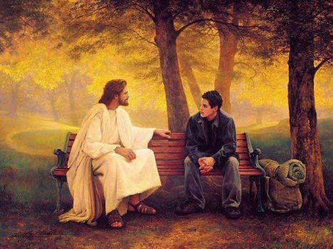 Jesus With A Young Man (70 pieces)