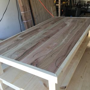 Coffee Table With Reclaimed Tongue
