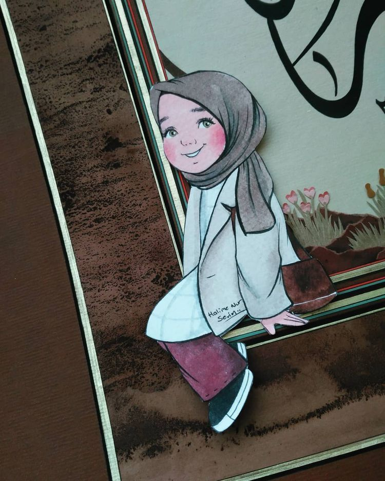 Pin oleh صورة و كلمة di Hijab Graphic Seni islamis