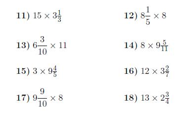Genuine multiplying mixed numbers worksheet Useful