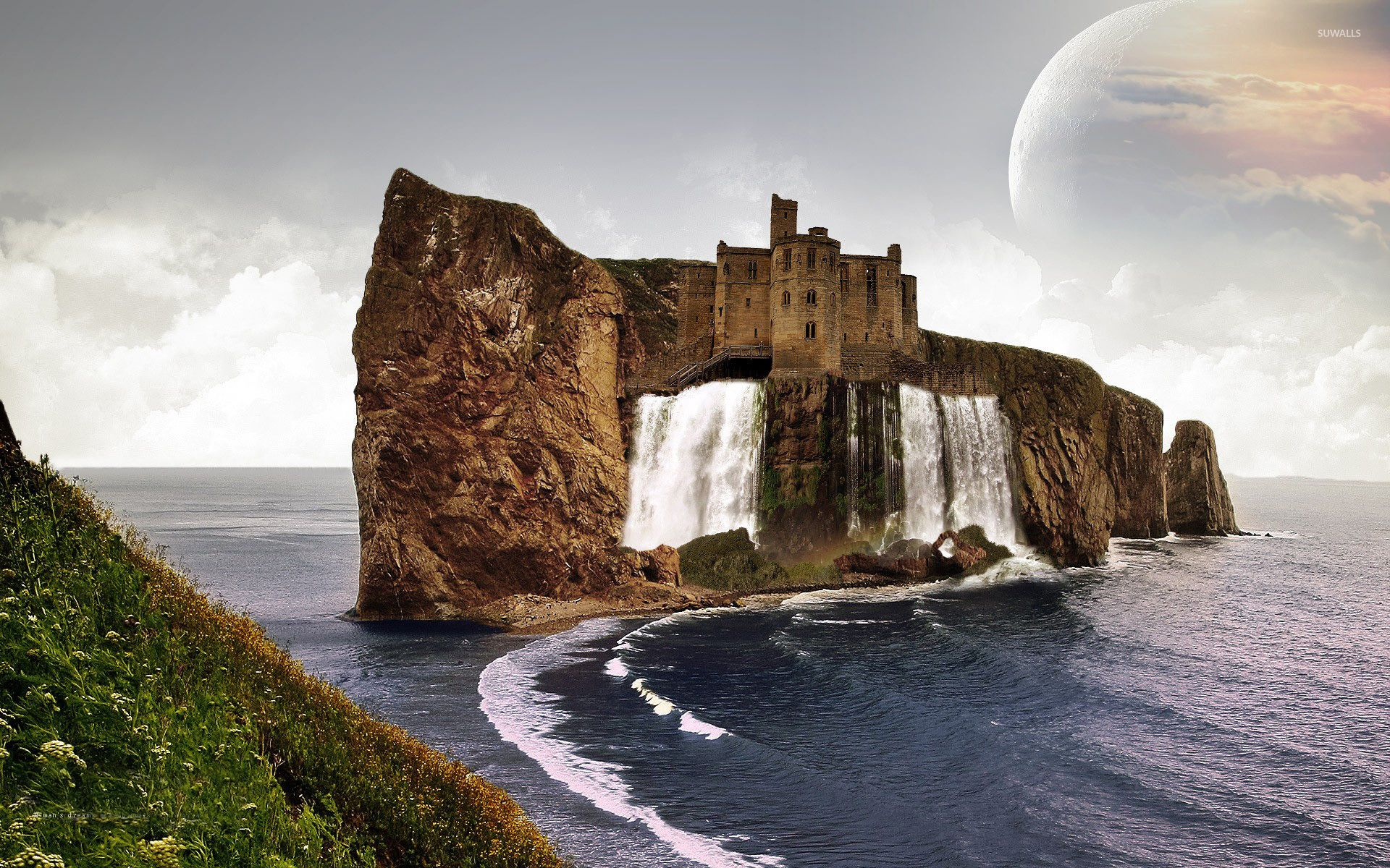 King bertils castle prodigyprince yafantasybooks yafiction free wallpapers castle at stone with waterfall wallpaper voltagebd Choice Image