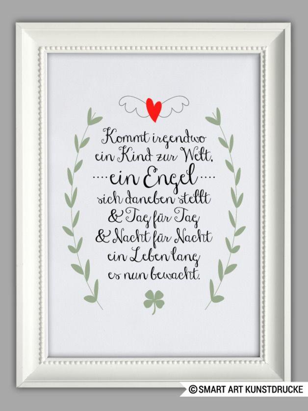 "Originaldruck - ""SCHUTZENGEL"" Kunstdruck, Geschenk, T ..."