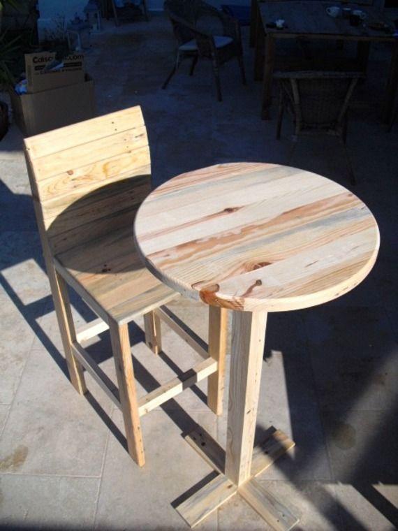 ensemble mange debout chaise haute palette works mobilier pinterest mange debout manger. Black Bedroom Furniture Sets. Home Design Ideas