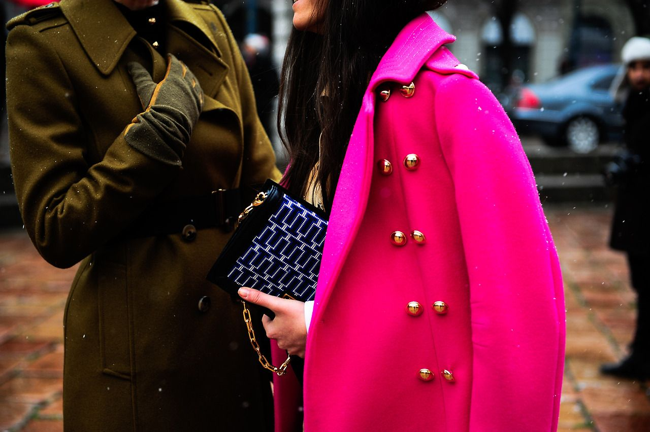 The colour of this coat.