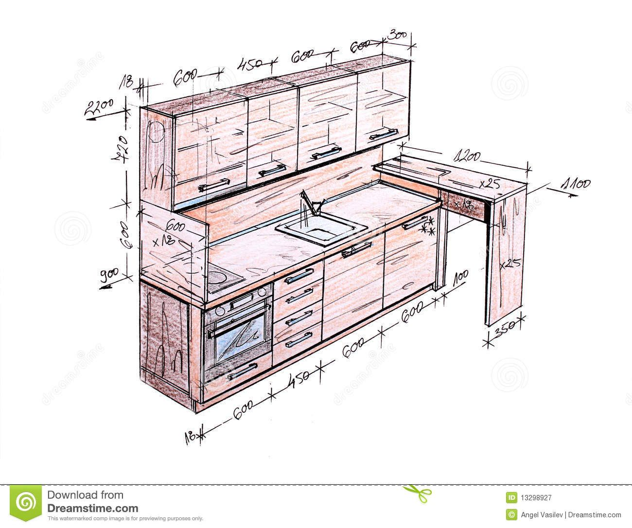 pleasurable ideas kitchen cabinet design drawing elevation line on home