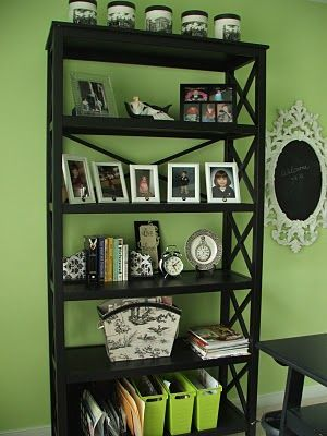 No Minimalist Here: What is black,white & green all over?