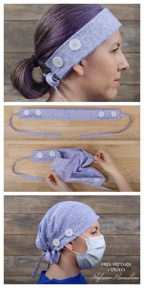 Tutoriel bricolage CareCap en tissu transformable + vidéo | Tissu Art DIY   – COVID-19