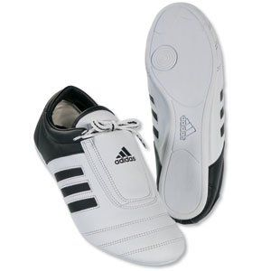 adidas low cut martial arts sneaker white with black stripes