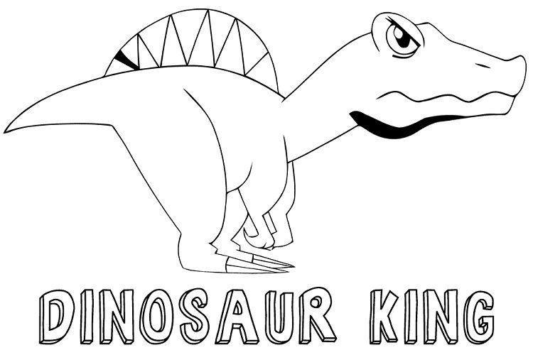 Dinosaur King Coloring Pages To Print Download Or Print The Image