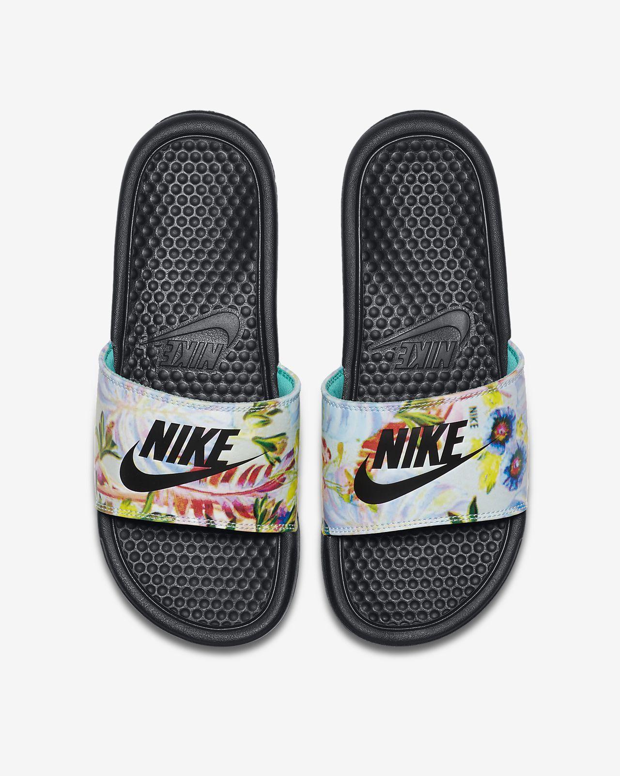 Benassi JDI Floral Chanclas - Mujer. Nike ES | Chanclas ...