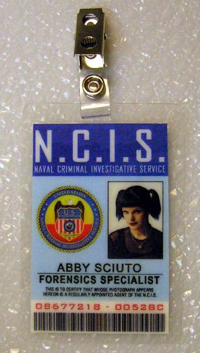 ncis tv series id badge-forensic specialist abby sciuto costume - id badge template