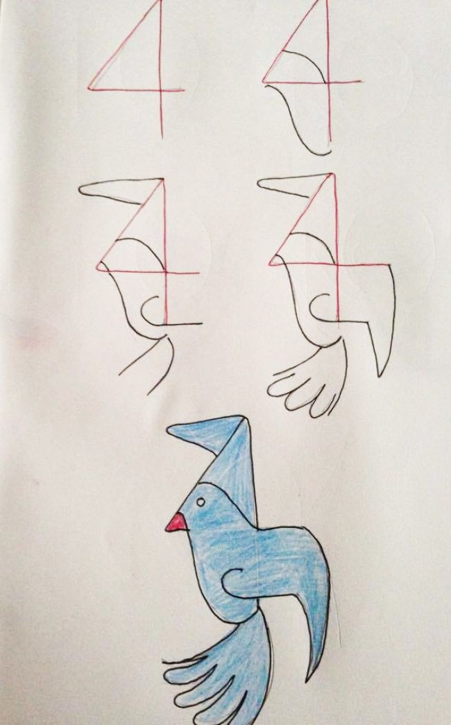 How To Teach Your Child To Draw Using Numbers 4 Clever