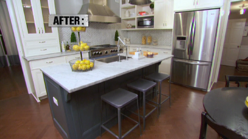 Chevron Chic Kitchen From Kitchen Crashers Cabinetry By