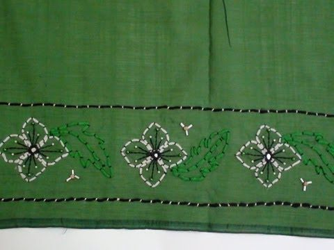 Saree Border With Couching Stitch Youtube Naks Vdeo