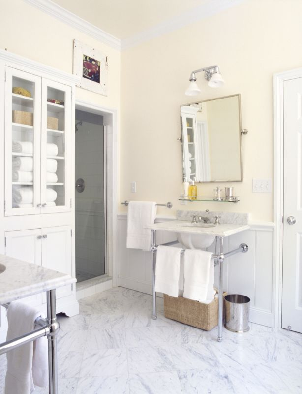 Beautiful Marble Floors In This Bright Industrial Styled Bathroom Extraordinary Bathroom Floors Design Decoration