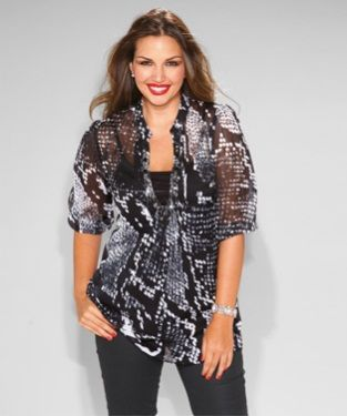 e42c2af2f Venca-blusa-de-vestir-pedrería | MODA | Blusas animal print, Blusas ...