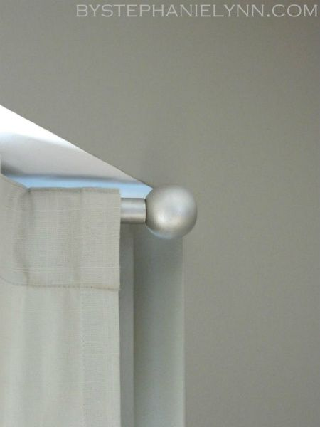 Make Your Own Curtain Rod Finials For Under 3 Diy Curtain Rod