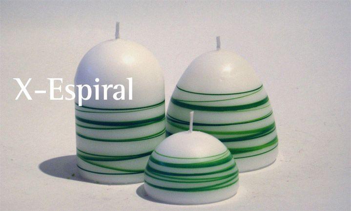 Velas X-Espiral Verde