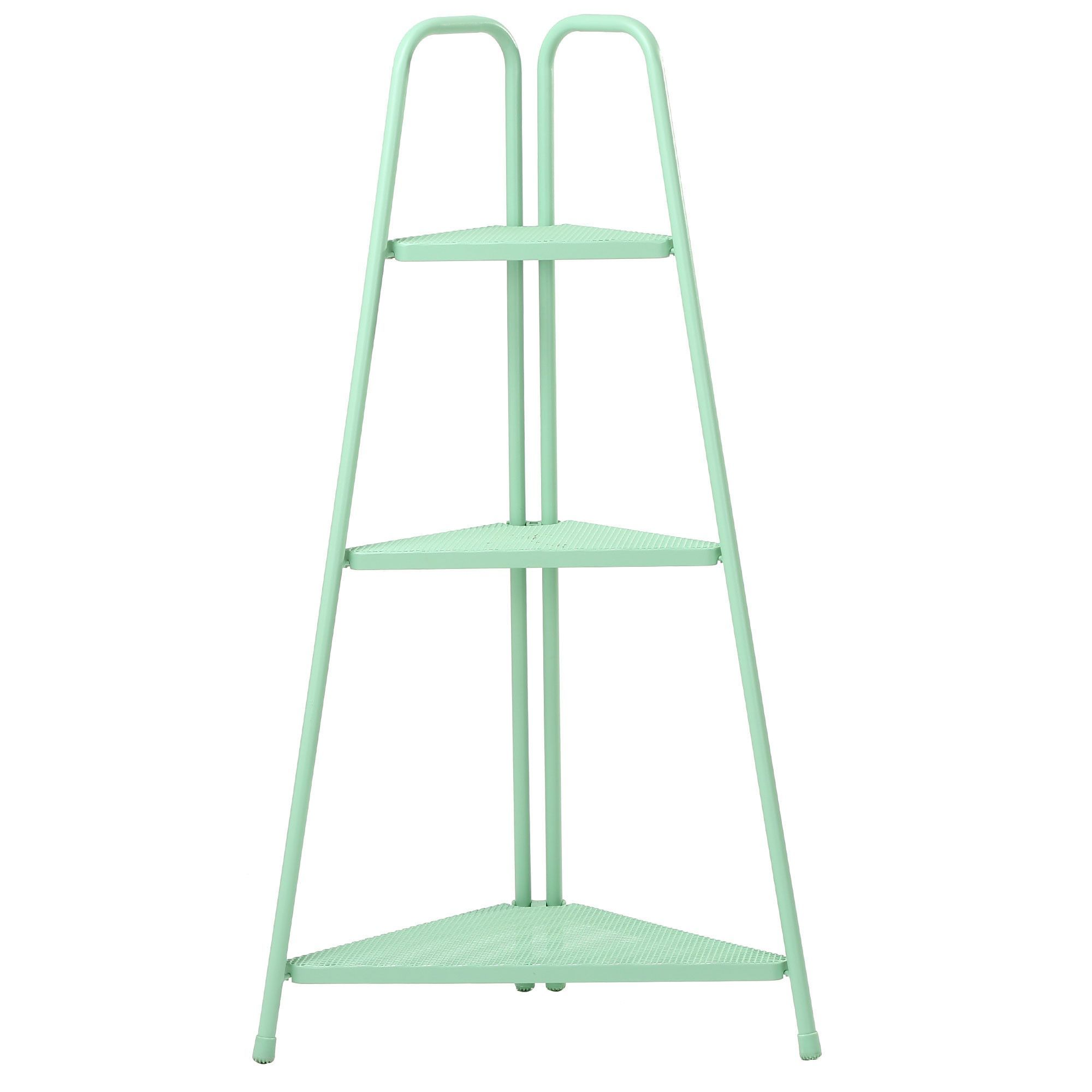 Green Metal Plant Stand Marcel Indoor Outdoor Corner Plant Stand Green