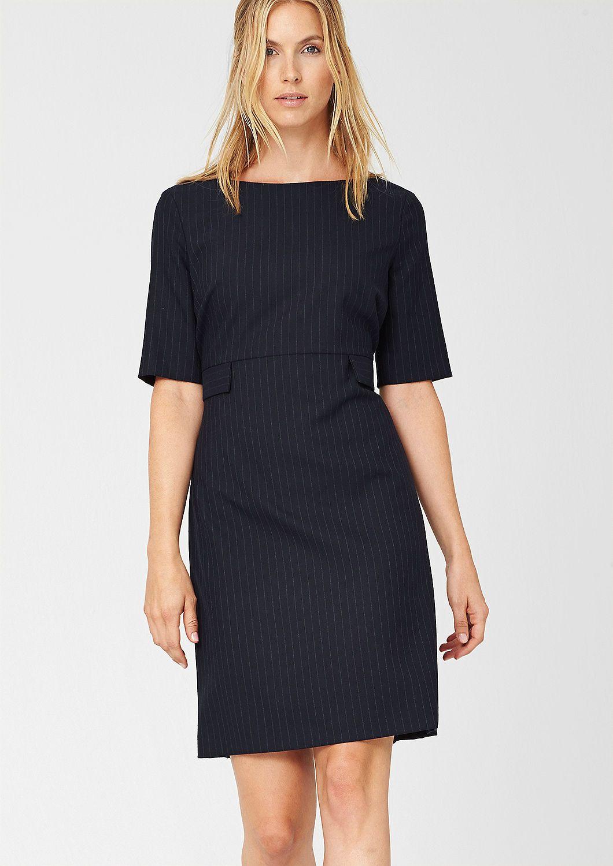 Kleid Mit Nadelstreifen Business Kleider Business Kleidung Damen S Oliver Kleider