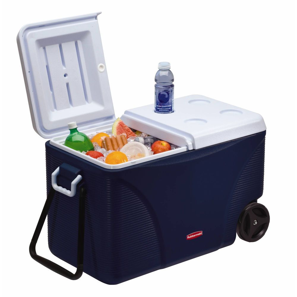 Ice Chest Cooler With Wheels Rolling Outdoor Patio Small