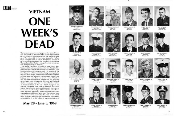 Faces of the American Dead in Vietnam: One Weeks Toll