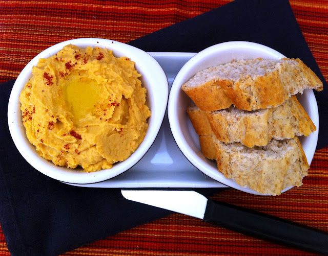 Sweet Potato Hummus: You get the nutty flavor from tahini and the sweetness from the potatoes.