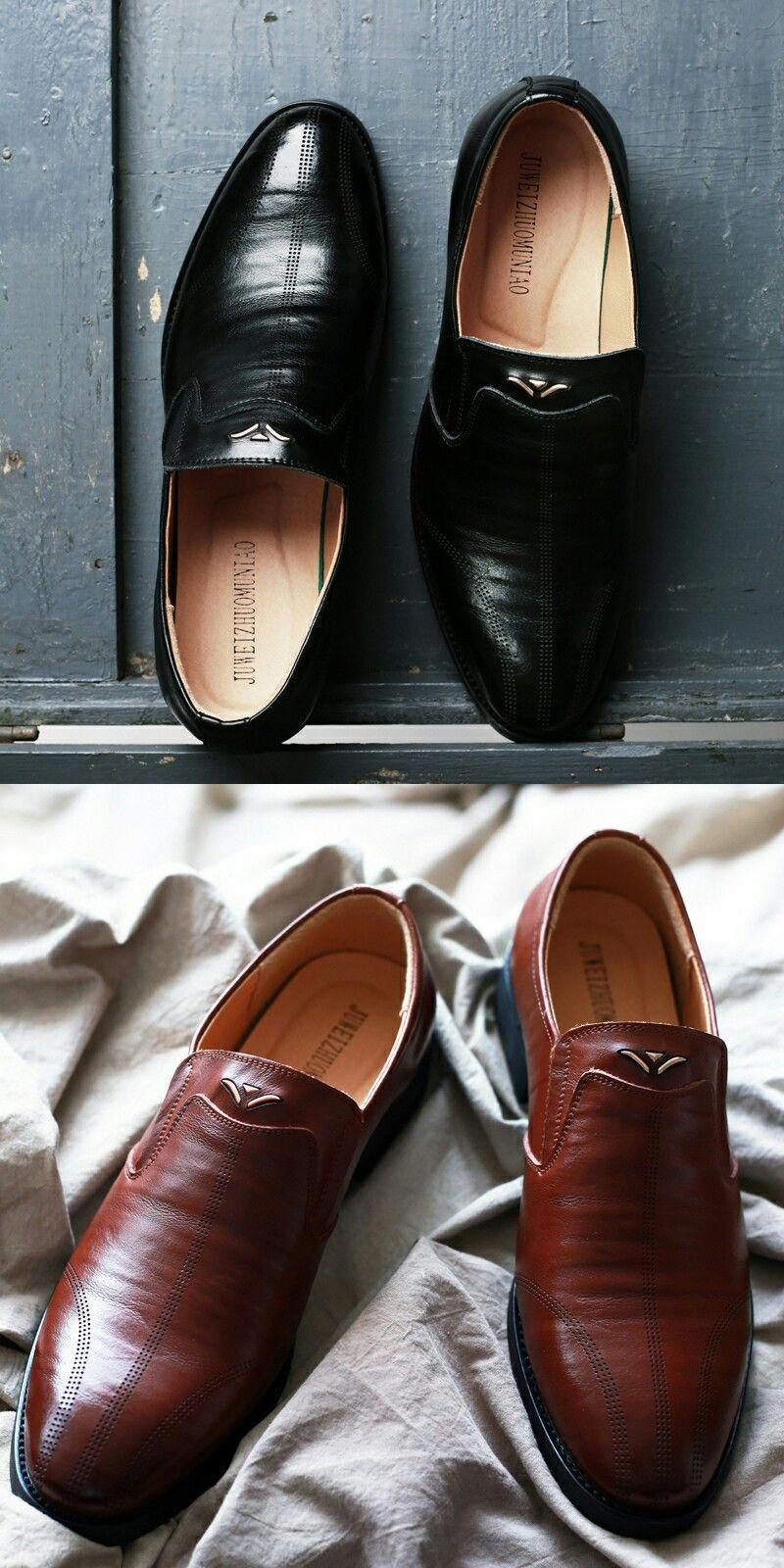 US  32.62 2018 New Design Man Business Shoes Flat Classic Men Dress Shoes  Cow Genuine Leather 0a195e348e9b