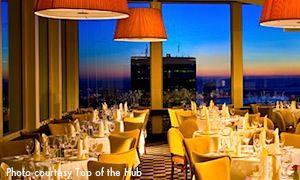 Top Of The Hub Restaurant In Boston Ma Where I Had Dinner