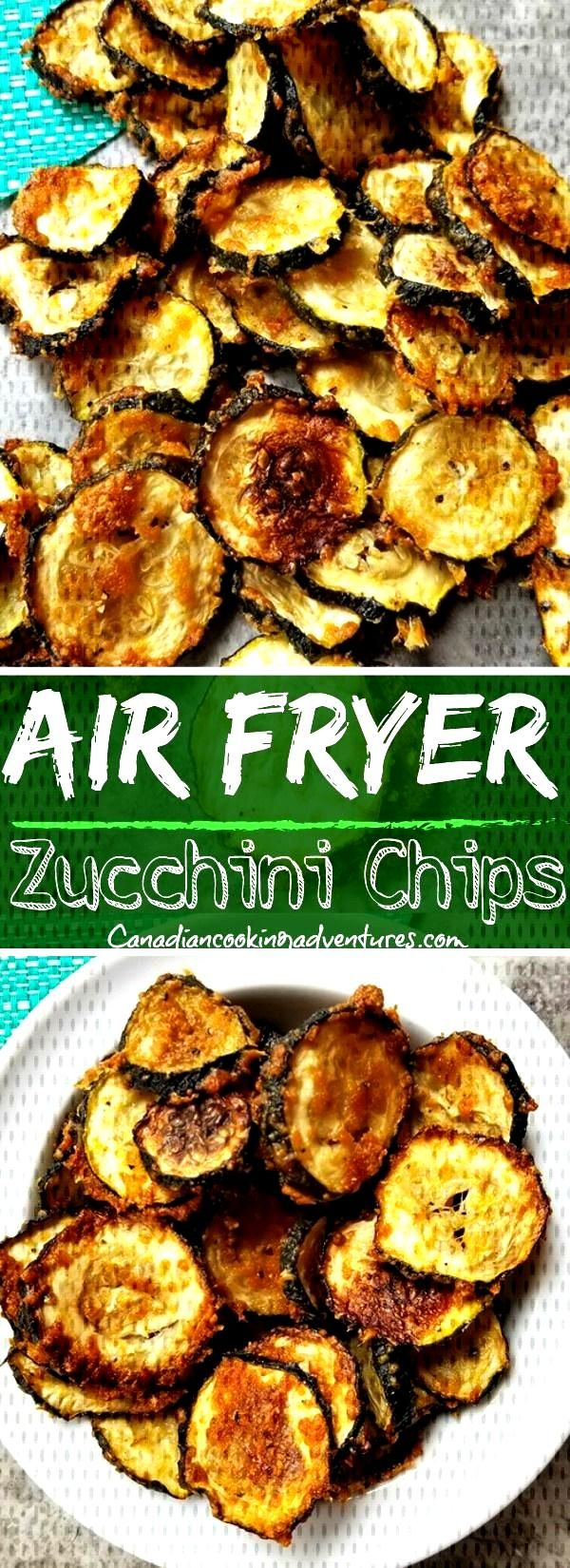 Air Fryer Zucchini Chips I wouldn't dehydrate zucchini unless I grew too many ~