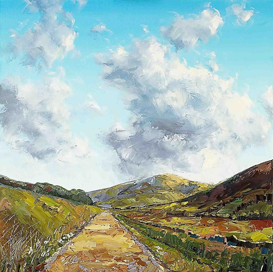 Beyond The Hills Painting by Maxim Grunin