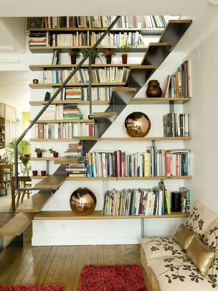 Bookshelf Next To Staircase Home Library Design Staircase Bookshelf Stair Shelves
