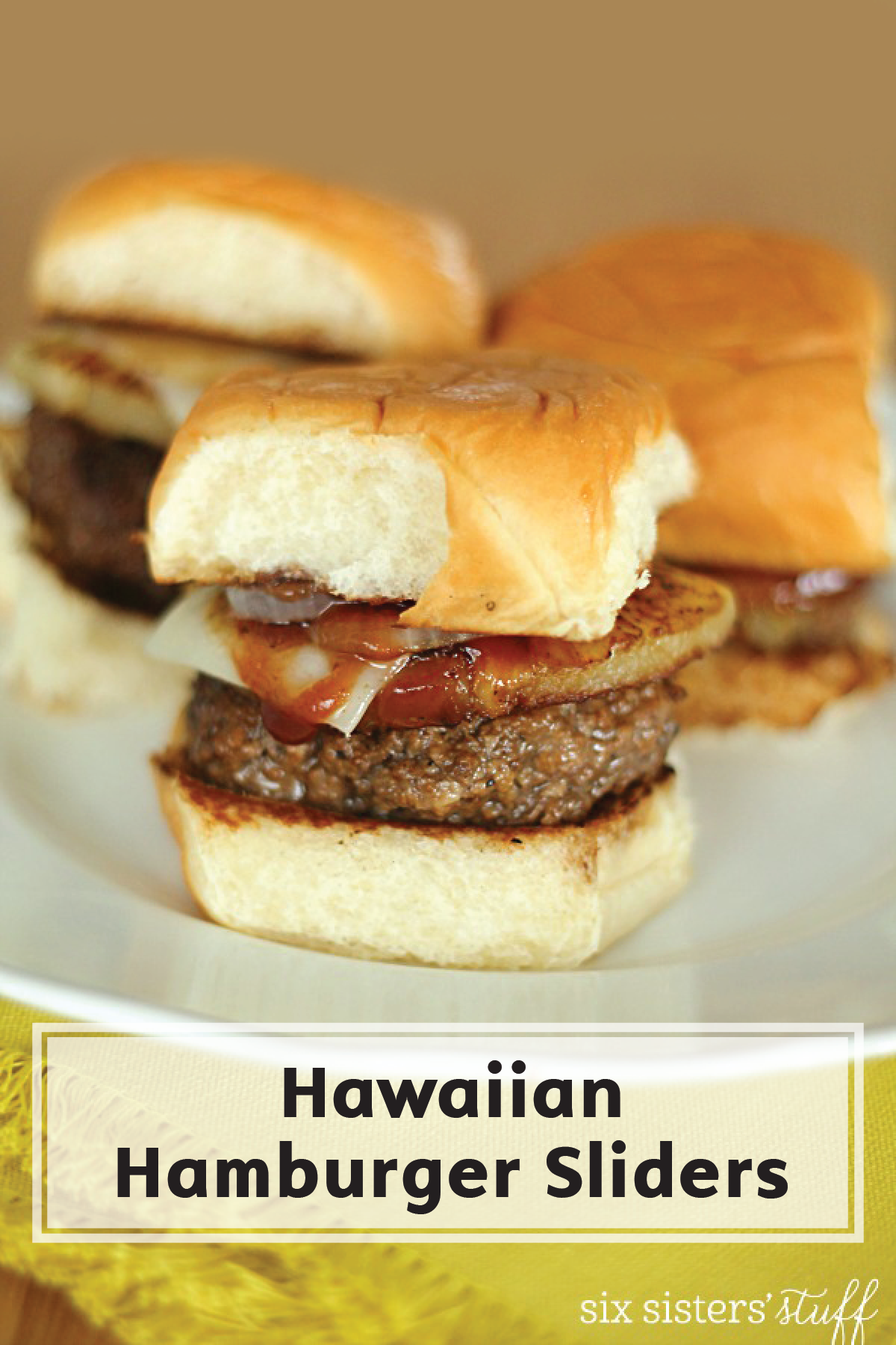 Bring tropical flavor to your Game Day spread with this recipe for Hawaiian Hamburger Sliders. With toppings like Swiss cheese, BBQ sauce, and pineapple, your tailgating guests will be licking their fingers after enjoying this savory appetizer.