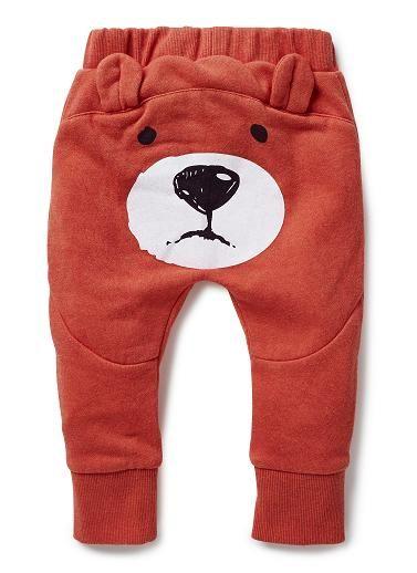 594eca53f801 Baby Boys Pants & Shorts | Bear Bum Trackie | Seed Heritage | Baby ...
