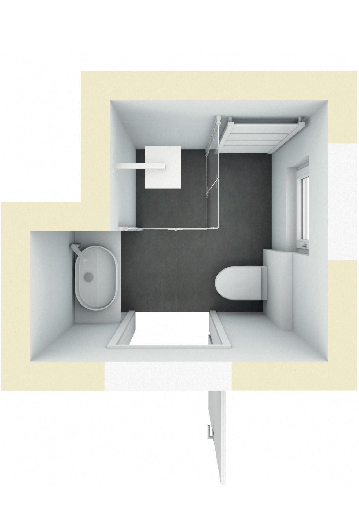 Badplanung: Kleines Badezimmer Mit Dusche