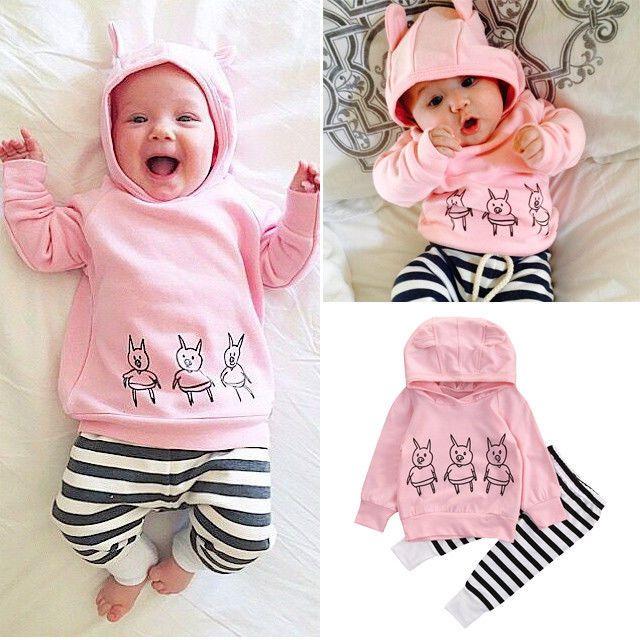 Cute Kids Baby Boy Vest Tops+Pants Shorts 2PCs Outfits Hooded Clothes Set 0-24M