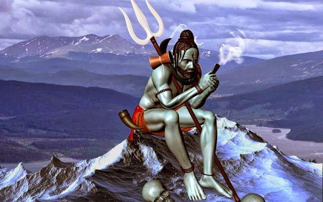 Shiv Tandav Hd Wallpaper Does Really Hindu God Shiva Take Chilam Hindibaaj Com