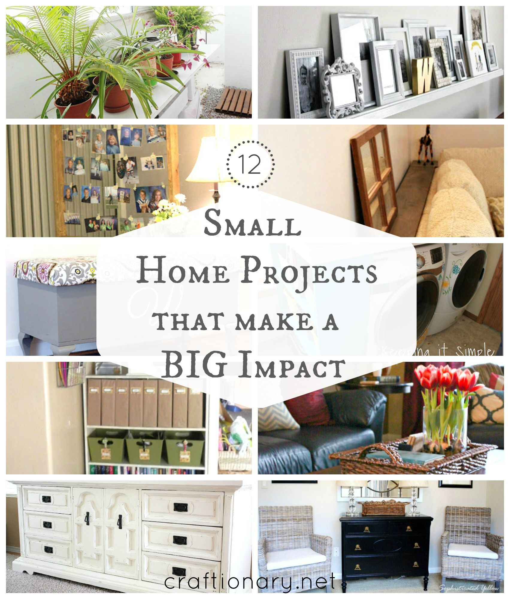 12 DIY Small home projects (Big impact) Home projects