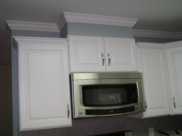 8ft Ceiling 70s Ranch Homeu003dno Crown Molding ? Cabinets To CeilingKitchen ...
