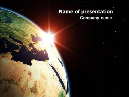 Http Www Pptstar Com Powerpoint Template Sunrise In Space Sunrise