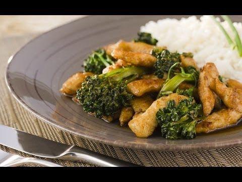 Receita - Tirinhas de peito de frango com brócolis, gengibre e shoyu - YouTube