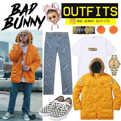 Bad Bunny Outfits Bad Bunny Chambea 2 Outfit Estilos De Ropa Fotos De Bad Bunny Ropa Streetwear