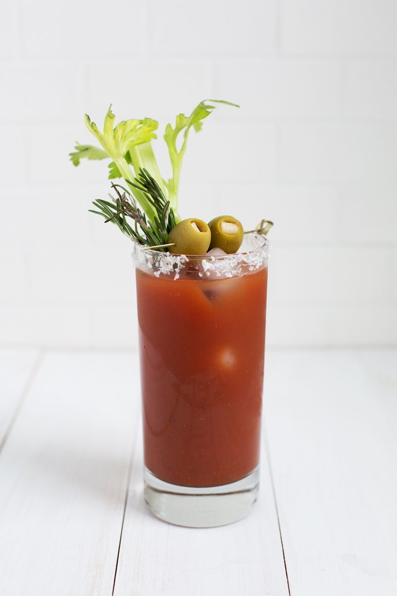 Classic Bloody Mary Mocktail Bloody Mary Mix I Love Zing Zang Fresh Rosemary