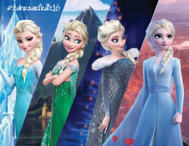 Elsa Throughout Frozen Frozen Fever Olaf S Frozen Adventure And Frozen Ii Frozen Elsa And Anna Frozen Disney Movie Frozen Sisters