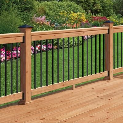 Veranda 32 In Aluminum Baluster Round With Fastball Connectors Included 15 Pack Black Home Depot Ca Decks Backyard Wood Deck Railing Patio Deck Designs