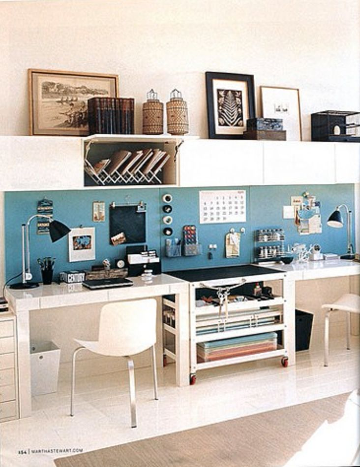side by side desks | dwelling | Pinterest | Bett